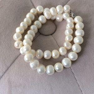Double Strand Freshwater Pearls Bracelet